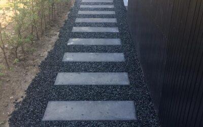 Stentæppe lavet af granitskærver